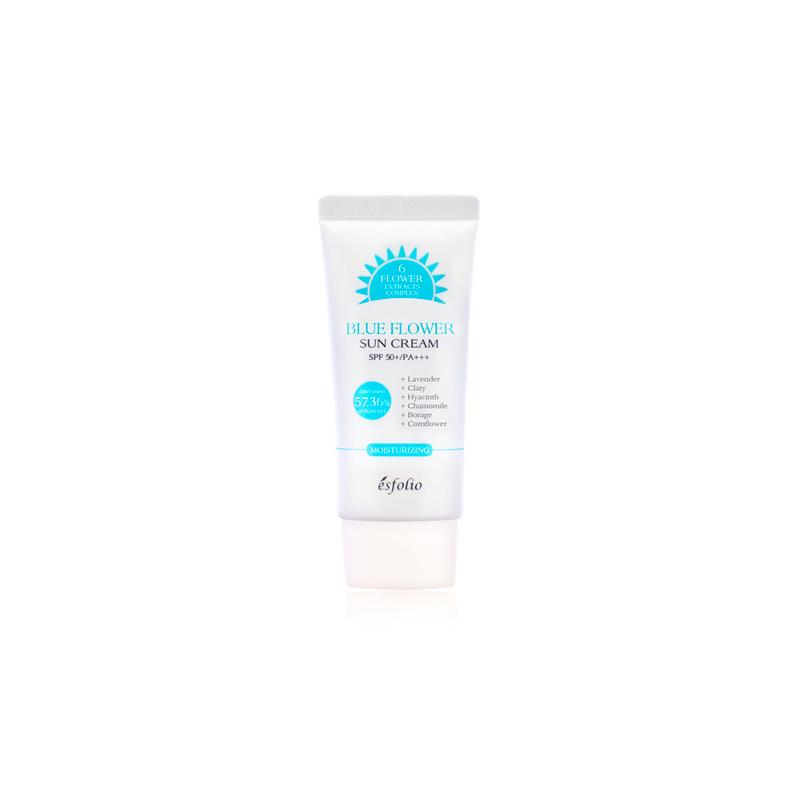 Buy Esfolio Blue Flower Sun Cream Spf 50Pa+++ Singapore