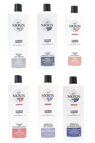 NIOXIN SYSTEM 1/2/3/4/5/6 CLEANSER SHAMPOO OR CONDITIONER 1000ML