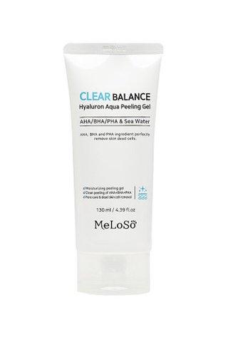 MELOSO CLEAR BALANCE HYALURON AQUA PEELING GEL 130ML