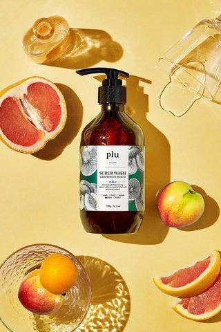 Plu Grapefruit Peach Scrub Wash 500ML