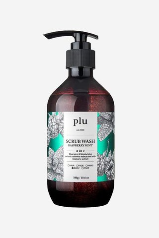 Plu Raspberry Mint Scrub Wash 500ML