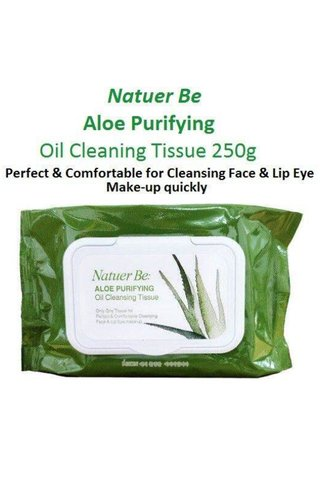 NATUER BE ALOE PURIFYING OIL CLEANING TISSUE 60PCS